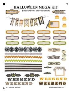 AngieHalesCreates~ Free Printable~ Halloween Mega Kit