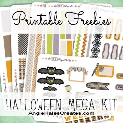 AngieHalesCreates~Free Printables ~ Halloween Mega Kit