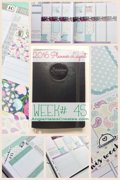 2016 Planner Layout, Week# 45