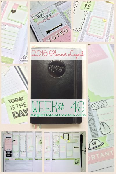 2016 Planner Layout, Week# 46